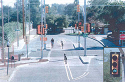 Image of one of the new pedestrian signal systems.