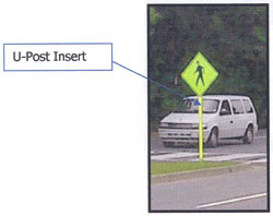 Image of a U-post insert used in the program.