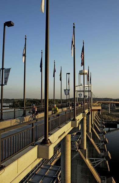 The Pulaski County Pedestrian and Bicycle Bridge Murray Lock and Dam.