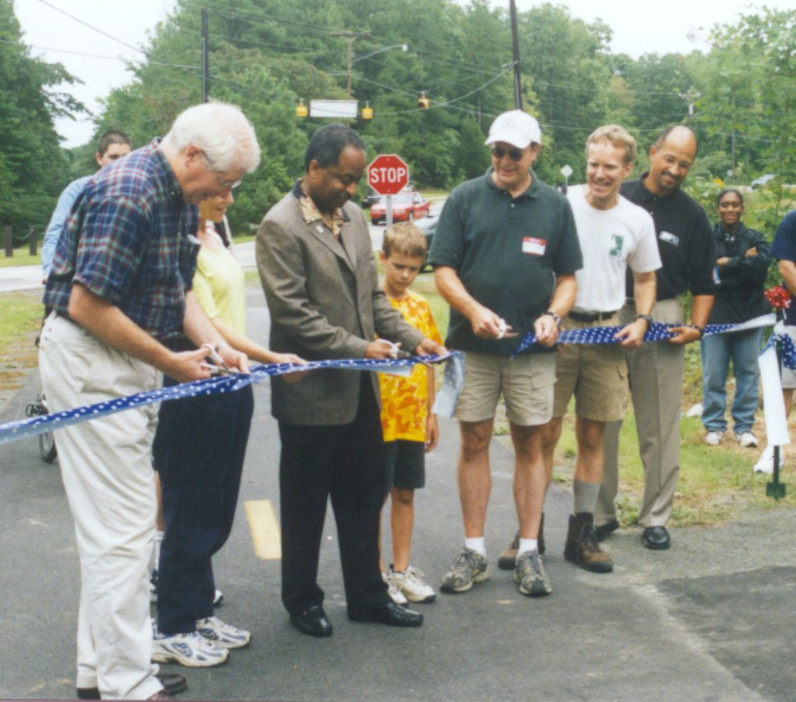 A ribbon-cutting ceremony