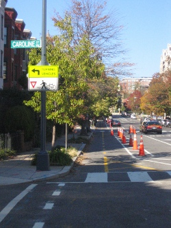 The two-way cycle track on 15th Street