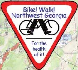 A Bike! Walk! Northwest Georgia sign.
