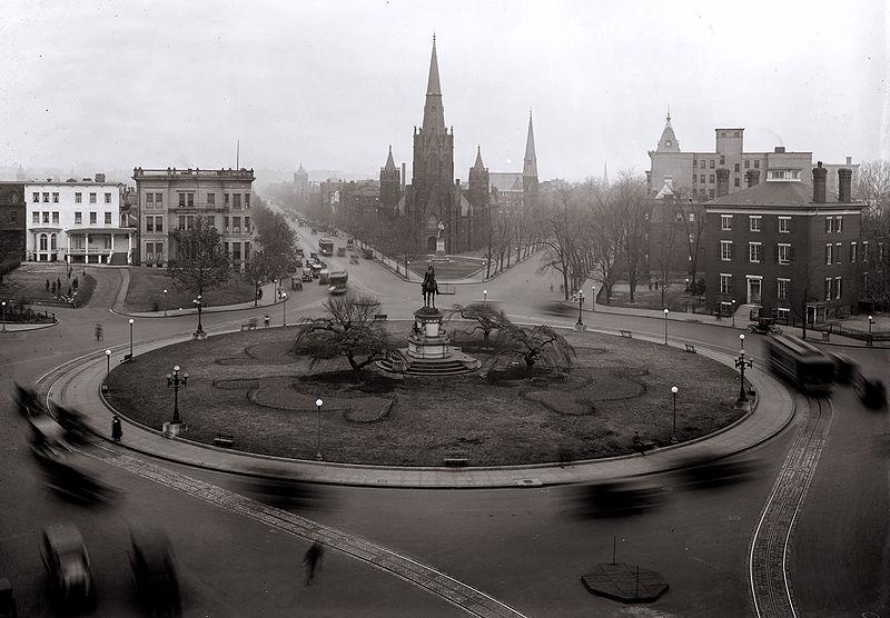 Thomas Circle in 1922.